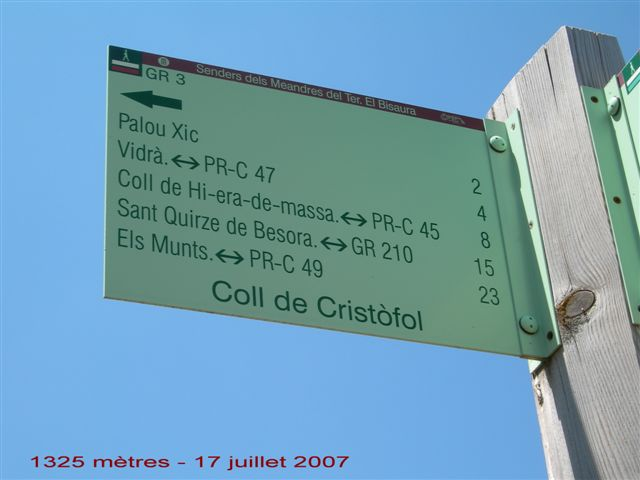 Coll de Cristofol - ES-GI-1325 (Panneau)