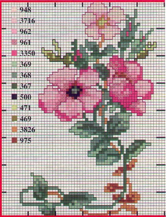 Point de Croix : Patron Fleur5 dans Fleurs 080125091638178861645379