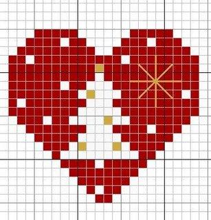 Point de Croix : Patron Petit coeur rouge dans Coeurs 080126051930178861647729