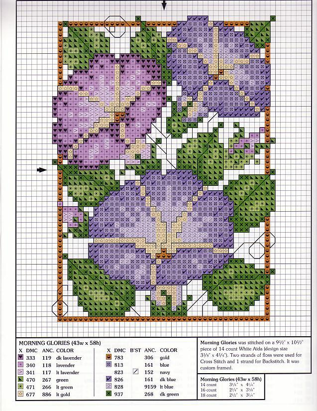 Point de Croix : Patron Fleur 10 (Mauve) dans Fleurs 080127110719178861653082