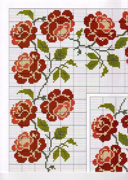 Point de Croix : Grille Fleur dans Fleurs 080129041007178861658018