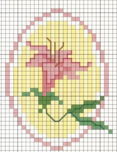 Point de Croix : Grille Fleur dans Fleurs 080129041652178861658053