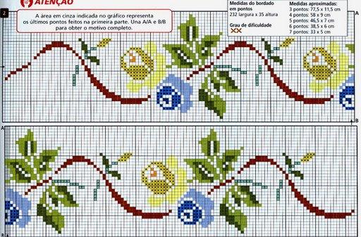 Point de Croix : Grille Fleur dans Fleurs 080131115920178861667127