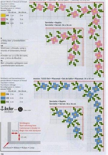 Point de Croix : Grille Coin3 (Fleur) dans Coins 080201014750178861667361