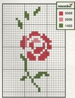 Point de Croix : Grille Fleur dans Fleurs 080201014853178861667364