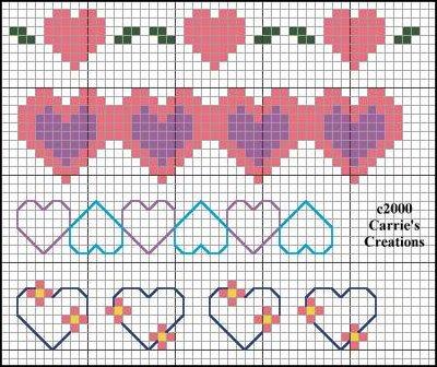 Point de Croix : Grille petit Coeur dans Coeurs 080201015020178861667368