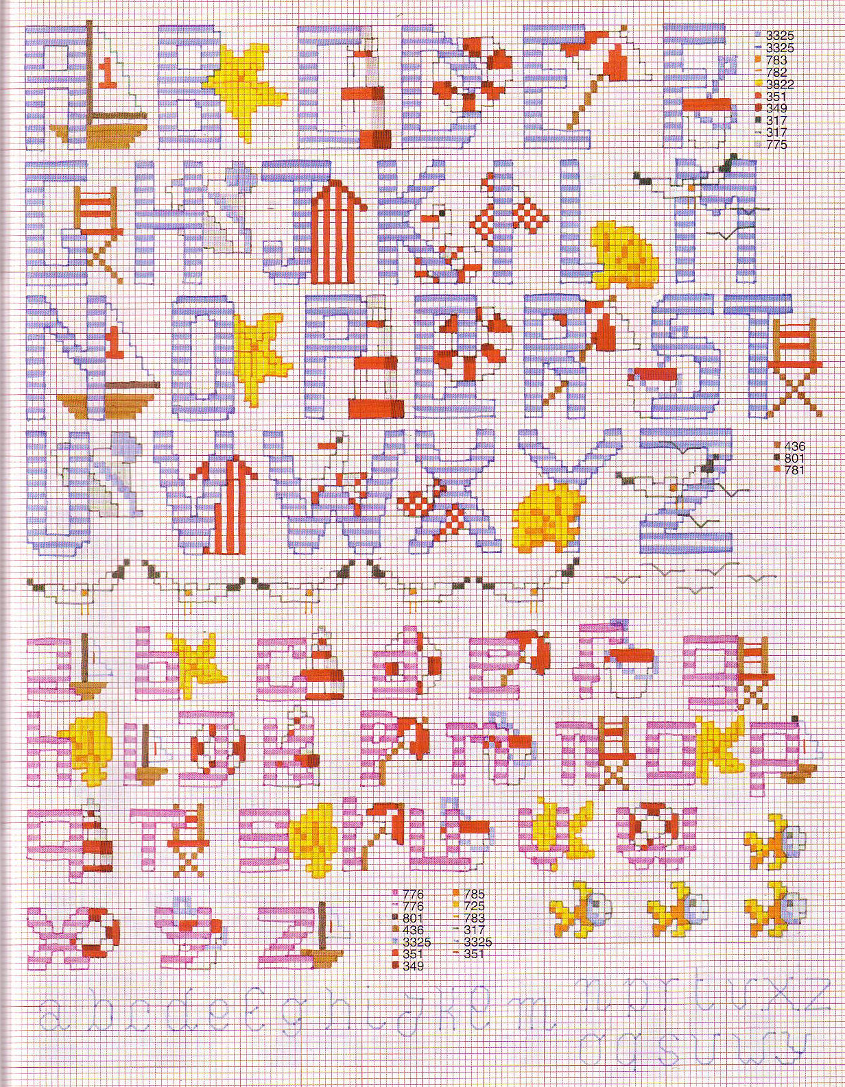 Mon Petit Paradis Sur Terre Archives Du Blog Point De Croix Grille Alphabet