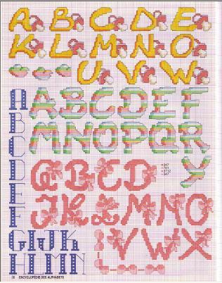 Point de Croix : Grille Alphabet dans Les Alphabets 080226011421178861761063
