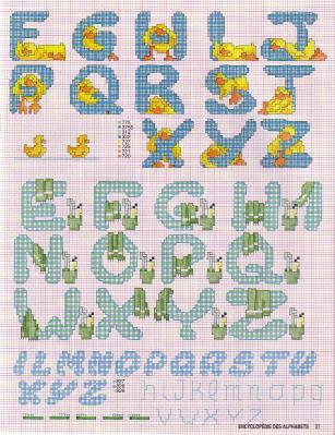 Point de Croix : Grille Alphabet dans Les Alphabets 080226011715178861761065