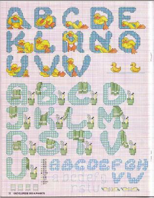 Point de Croix : Grille Alphabet dans Les Alphabets 080226011920178861761067