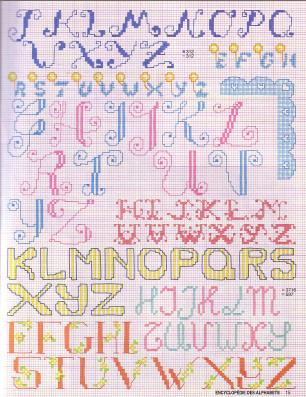 Point de Croix : Grille Alphabet dans Les Alphabets 080226012149178861761071
