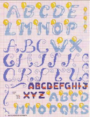 Point de Croix : Grille Alphabet dans Les Alphabets 080226012959178861761084