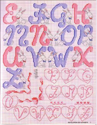 Point de Croix : Grille Alphabet dans Les Alphabets 080226013212178861761090