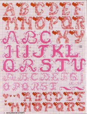 Point de Croix : Grille Alphabet dans Les Alphabets 080226013828178861761100