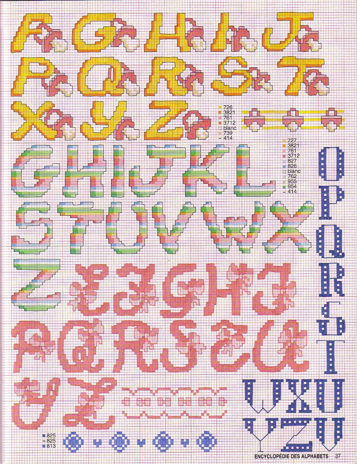 Алфавит вышивка крестом схемы 45