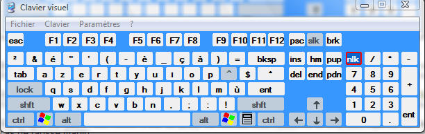 Clavier Visuel Windows Xp