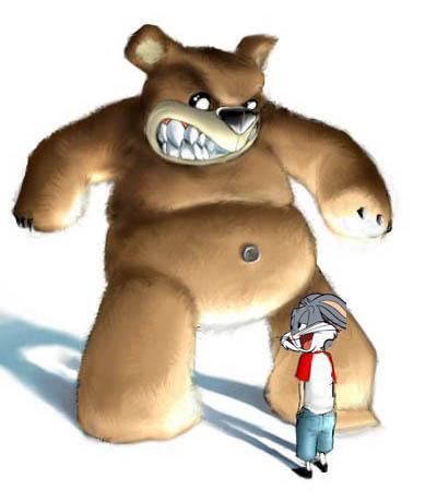 Clique sur l'image si tu veux voir un autre vilain ours... un peu  plus sympathique !