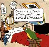 Les perroquets jouent un grand rôle dans Tintin...