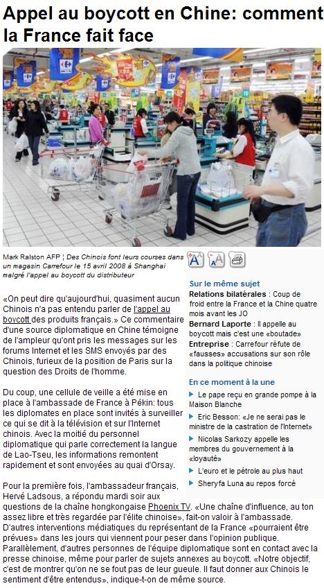Les Chinois envisagent un boycott des produits français... - Page 2 080416013426142181954927