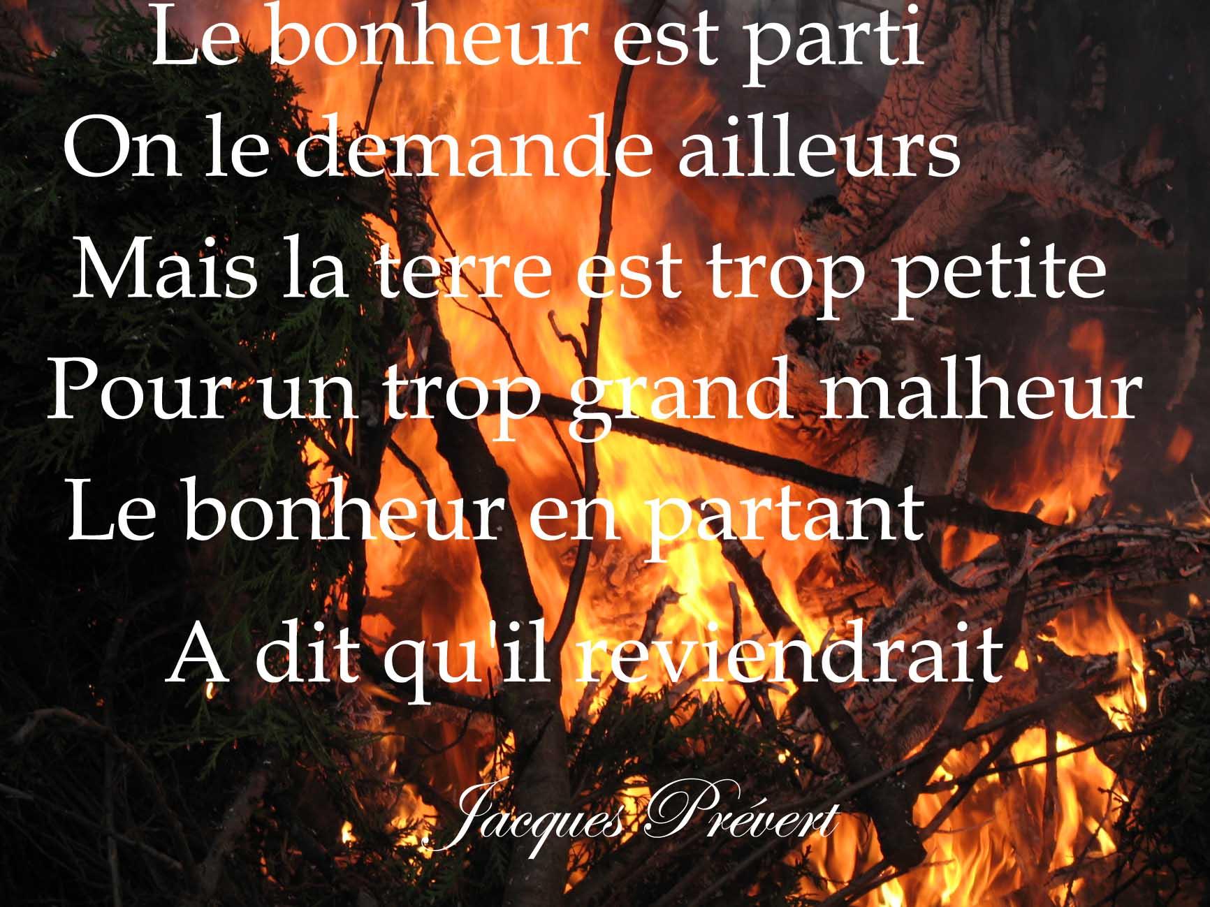 Le bonheur d'aprés Jacques Prévert