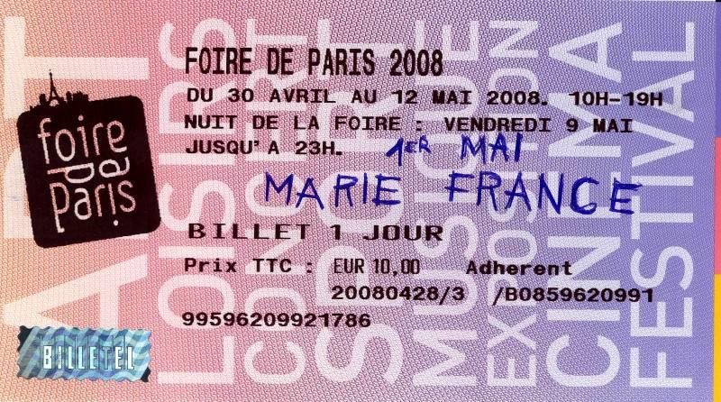 marie france et ses passions 01 05 2008 foire de paris compte rendu. Black Bedroom Furniture Sets. Home Design Ideas
