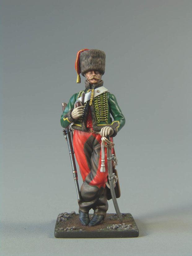 Hussards suite: Officier du 2ème Régiment en redingote. 080727011554359342317651