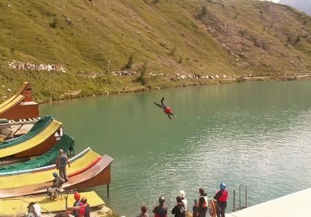 Jumping à l'arrivée