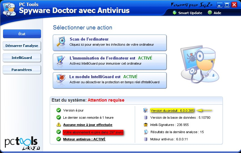Spyware Doctor 6 0 0 385( Complet Francais(french version) preview 0