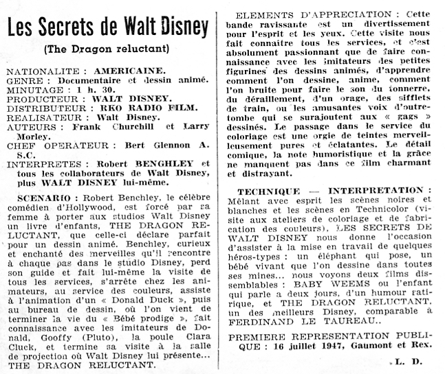 Les Secrets de Walt Disney / Le Dragon Récalcitrant [Disney - 1941] 081013081430433062608349