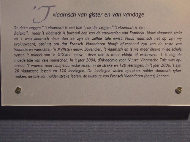 Het Frans-Vlaams in de musea, bezoekerscentra en toeristische diensten 081026120955440052661939