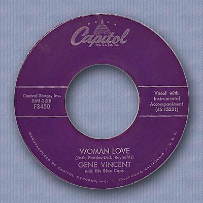 Be Bop A Lula/Woman Love - Capitol F3450 081027095238152912669264