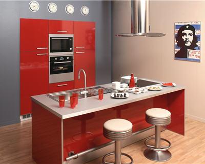 cuisine rouge mur couleur lin et apr232s