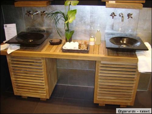 une salle de bain zen. Black Bedroom Furniture Sets. Home Design Ideas