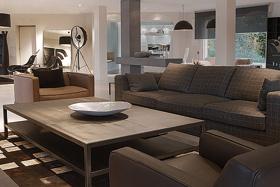 mission table basse. Black Bedroom Furniture Sets. Home Design Ideas