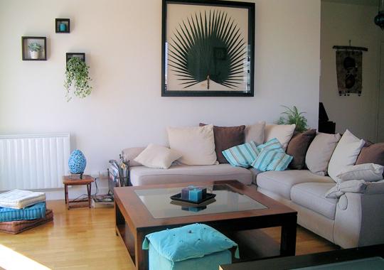 Besoin d 39 aide pour la peinture des murs su salon salle - Salon brun et beige ...