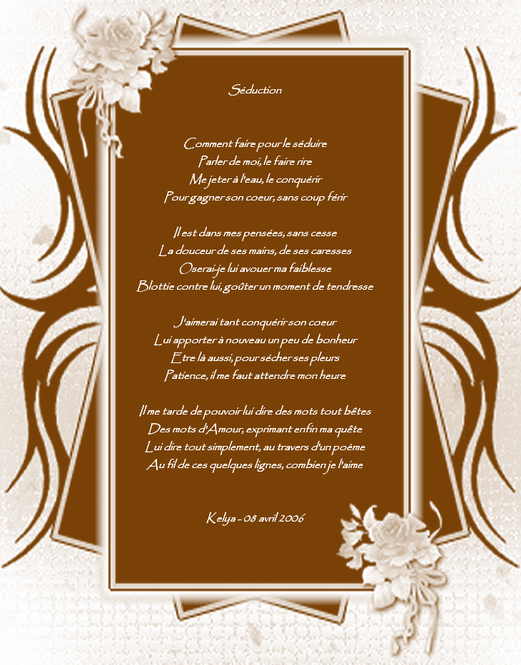 Poème Séduction