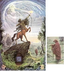 "La carte du tarot ""L'Hermite"" 090109074747385002974784"