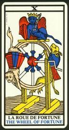 "La carte du tarot ""La Roue de Fortune"" 090110105243385002978931"