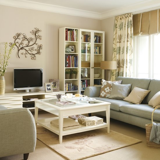 Besoin d 39 aide pour am nager un salon dans 18m2 - Cream high gloss living room furniture ...
