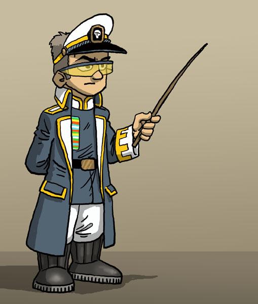 officier couleur Blanc et Gris-bleu