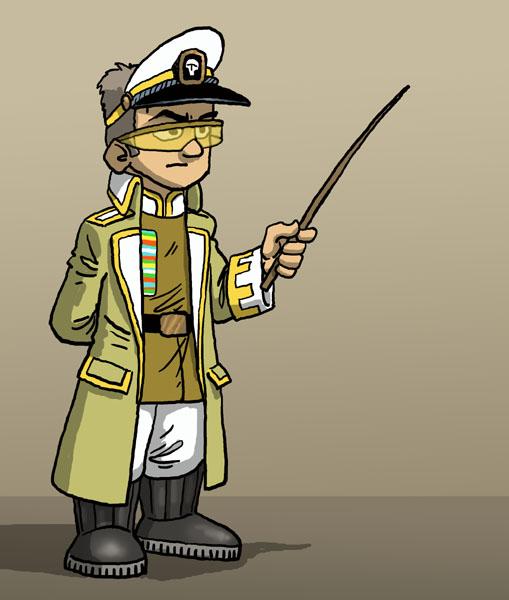 officier couleur jaune