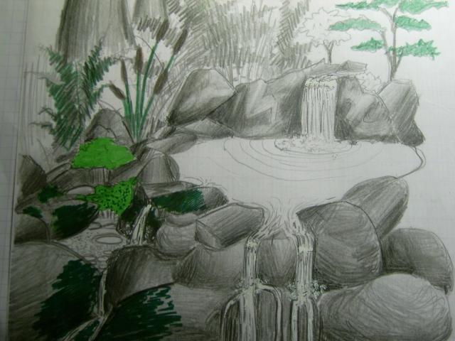 Une cascade, le bruit de l\'eau, nos sens en eveille 090126074205468093057953