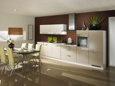 Couleur mur pour cuisine la fois moderne et r tro gn - Barre pour ustensile de cuisine ...