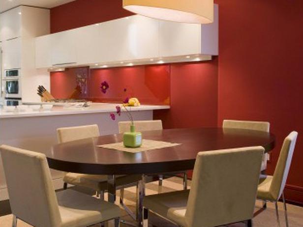 Peinture de cuisine peinture de cuisines - Peindre un mur en rouge ...