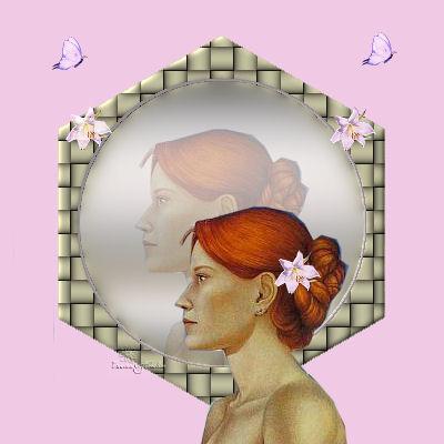 Femme reflet miroir mes cr ations psp et animations for Changer votre fenetre cas par cas