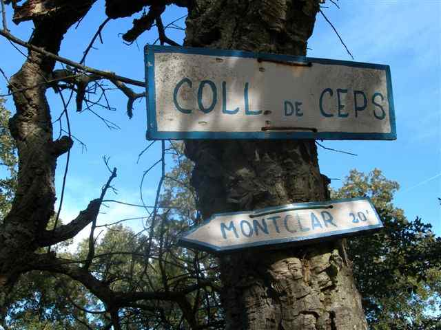 Pancarte Coll del Ceps - ES-GI-0351