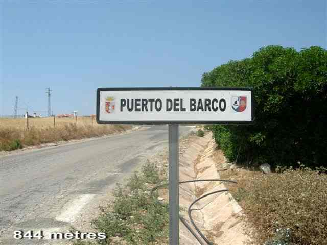 Puerto del Barco - ES-MA- 844 mètres (Panneau)