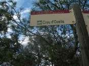 Coll de la Creu d'Ocells - ES-GI- 382 mètres (Panneau)