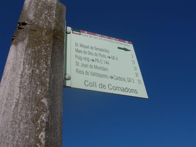 Coll de Comadoms - ES-B-0550c (pancarte)