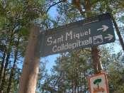 El Coll de Pitxell - ES-B-0590e (Panneau directionnel)